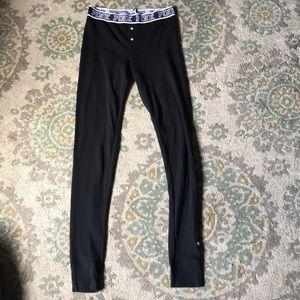Victoria's Secret pink sleepwear black leggings